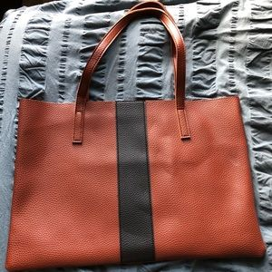 Vince Camuto Luck Tote in Desert Red Vegan Leather